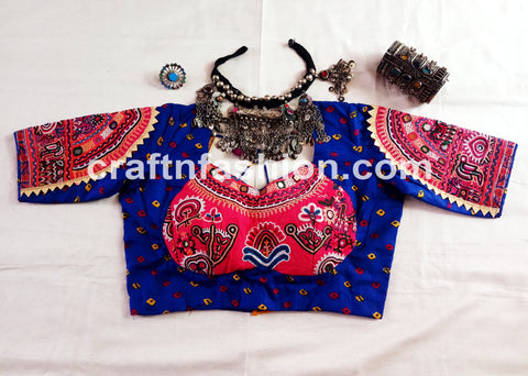 Cotton Navratri Blouse-Vintage Hand Embroidery