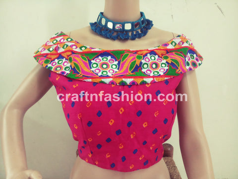 Traditional Bandhej Navratri Wear Blouse