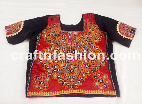 Mirror Work Dandiya Dance Wear Top
