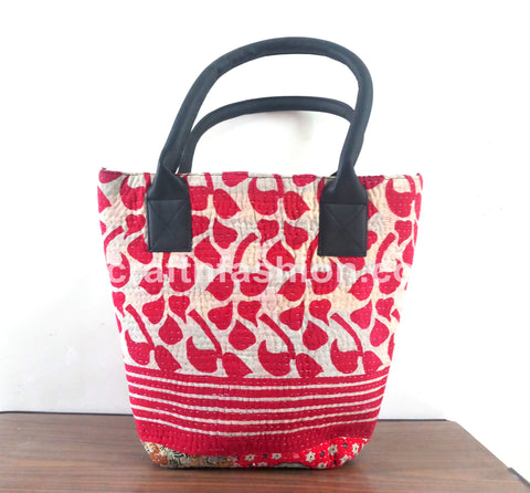 Ladies Fashion Boho Kantha Tote Bag