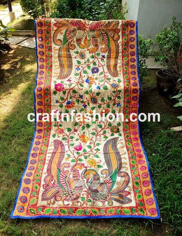 Ethnic Hand Embroidered Colorful Stole