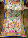 Floral Design Embroidered Handmade Dupatta