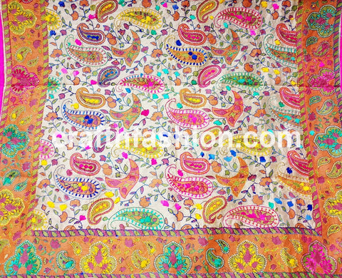 Fashion Wear Embroidered Phulkari Stole