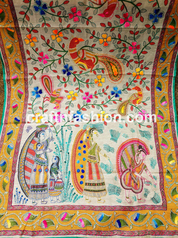 Traditional Hand Embroidered Dupatta