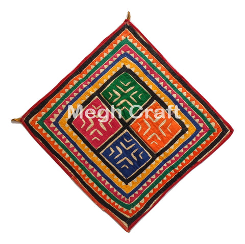 Hand Embroidery Mirror Chakla