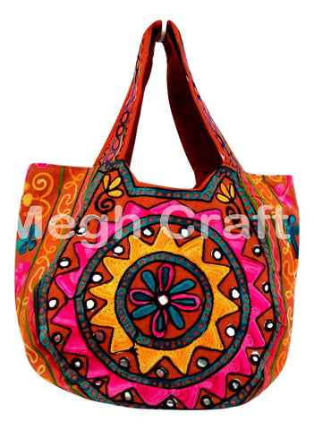 Traditional Embroidered Mirror Handbag