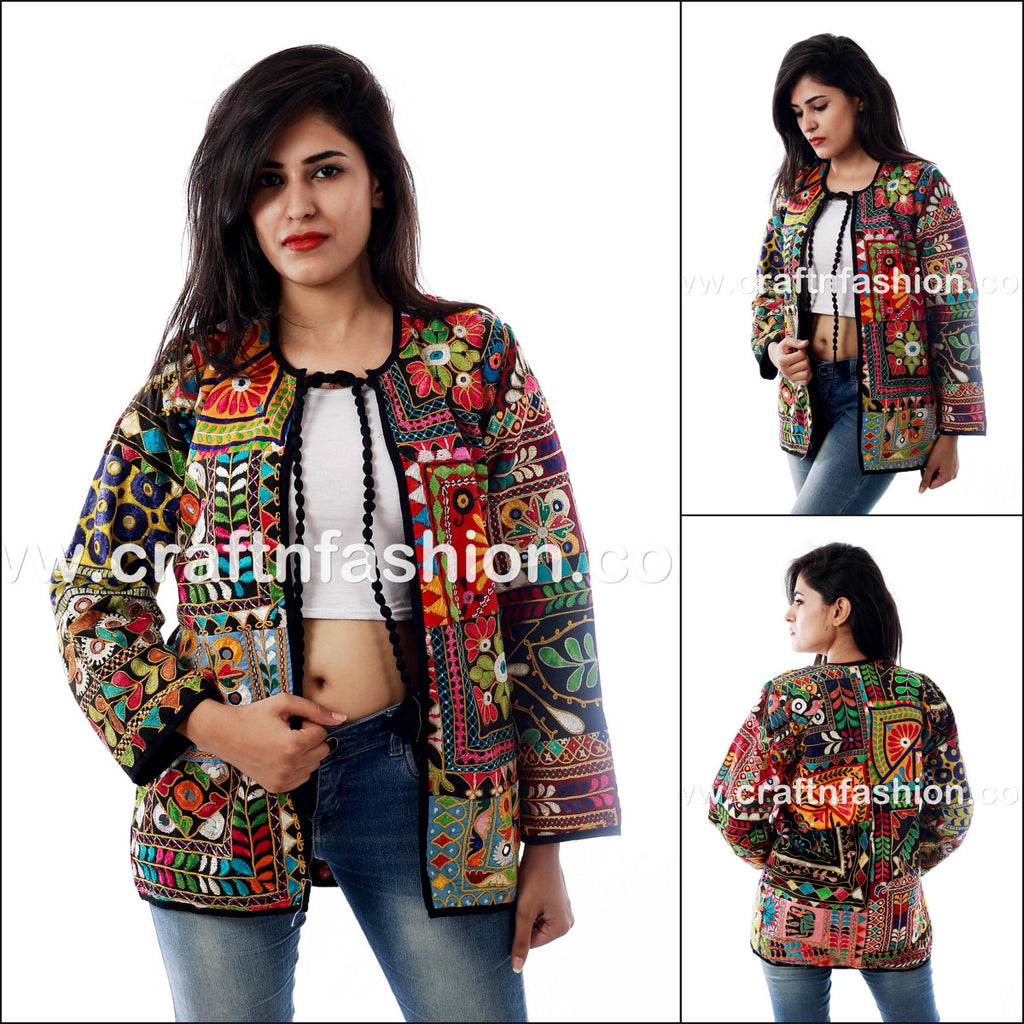 Kutch Embroidery Designer Cotton Jacket