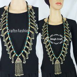 Afghani Old Coin Long Tribal Necklace