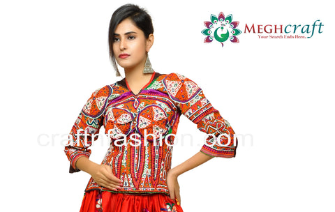 Dandiya Dance Wear Long Banjara Blouse