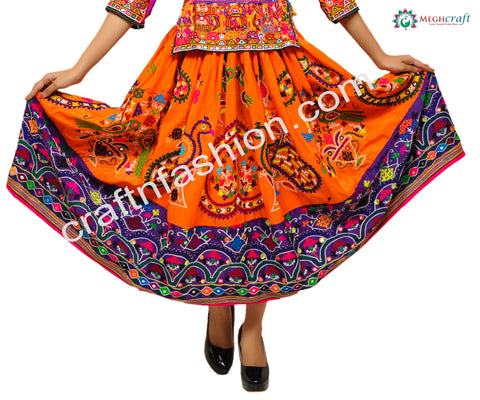 Vintage Gypsy Banjara Kutch Work Skirt