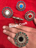 Stone Beaded Afghan GS Statement Rings
