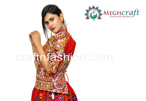 Tribal Dance Wear Embroidered Blouse