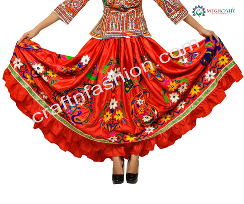 Hand Embroidered Banjara Skirt