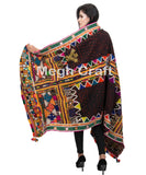 Antique Kutch Rabari Embroidered shawl