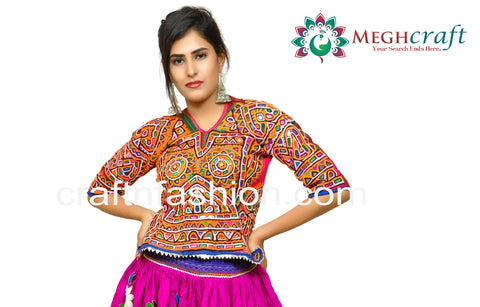 Rabari Embroidery Mirror Work Navratri Blouse