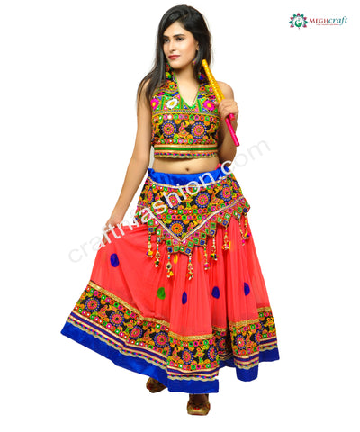 Multi Colored Designer Navratri Skirt