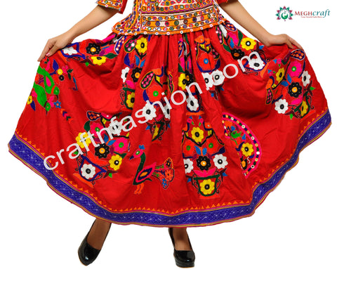 Indian Hand Embroidered Rabari Skirt