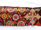Indian Kutch Embroidery Mirror Work Border Lace