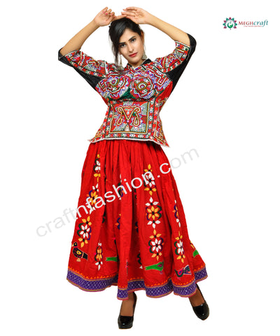 Gypsy Hand Embroidered Navratri Skirt