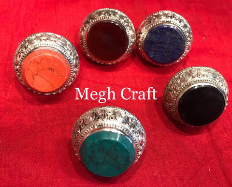 Navratri Wear Oxidized Ring