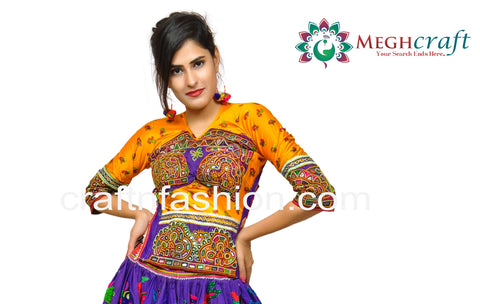 Traditional Kutch Embroidery Long Blouse