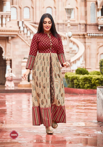 Party Wear Indo Western Long Kurti