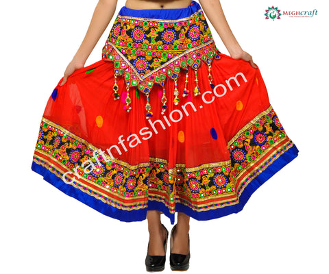 Indian Ethnic Multi Colored Chaniya/Skirt