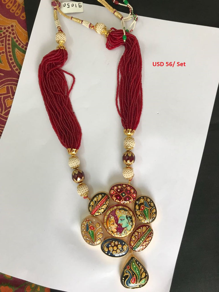 Designer Navratan Hand Painted Necklace sets