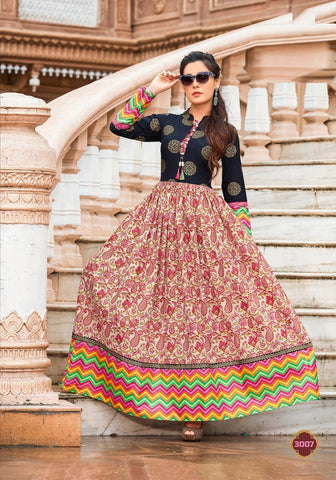 Party Wear Cotton Block Print Kurti