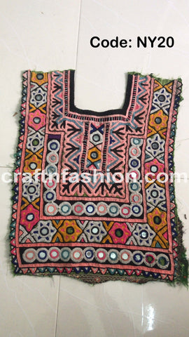 Kutch Embroidery Mirror Work Patch