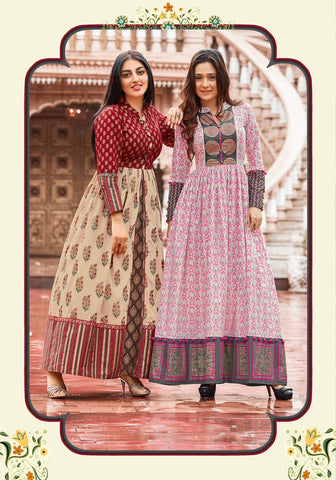 Designer Cotton Kurtis (CATALOG OF 8 PIECES)