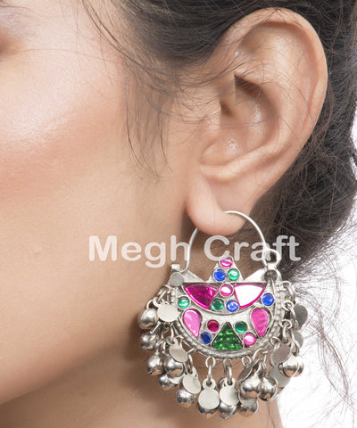 Tribal Kuchi Pink Earrings