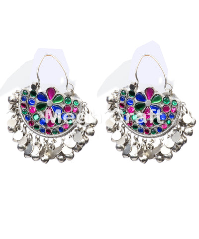 Afghani Beaded Kuchi  Earrings