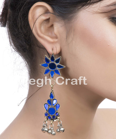 Kuchi Afghani Long Hoop Earrings