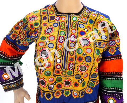 Vintage Afghani Mirror Work Tunic Top