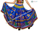 Multi Colored Sitara Work Navratri Skirt