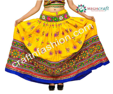 Dandiya Dance Wear Multi Colored Chaniya Choli