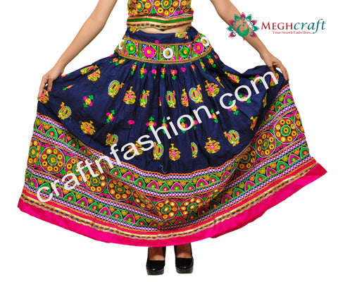 Indian Fashion Peacock Embroidery Chaniya Choli