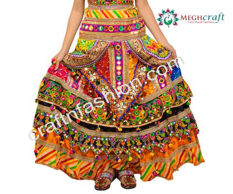Hippie Bohemian Embroidered Lehenga Choli