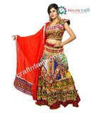Belly Dance Wear Multi Colored Ghaghra Choli