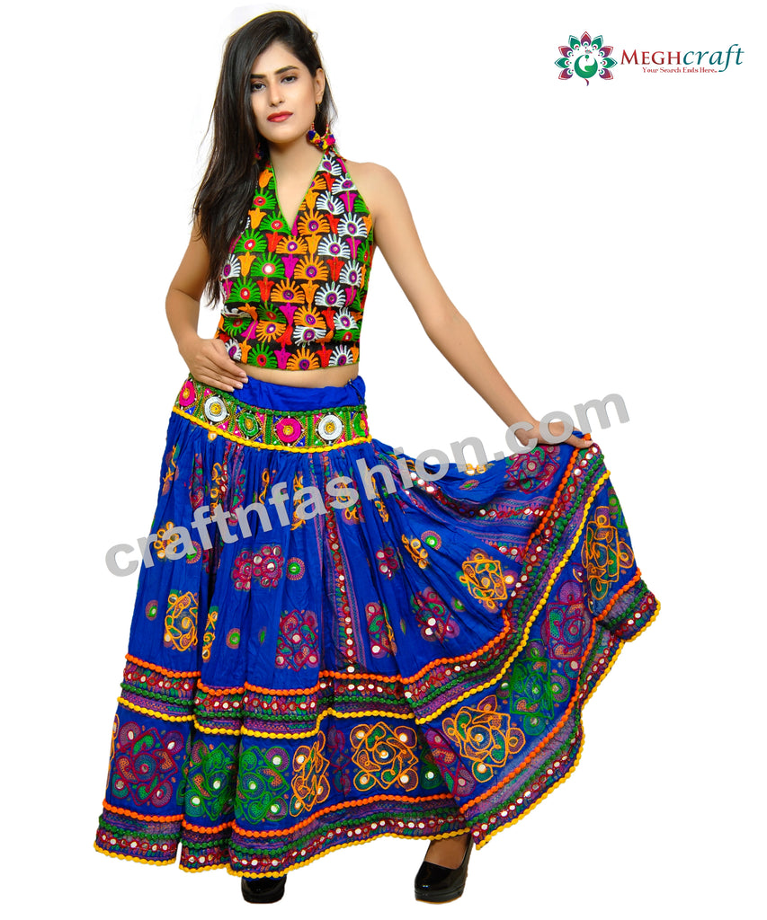 Banjara Bohemian Gujarati Dance Wear Skirt