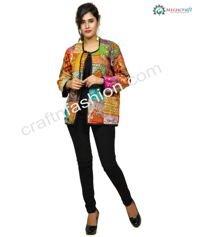 Patchwork Gypsy Bohemian Jacket.