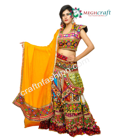 Hippie Boho Dandiya Dance Wear Garba Choli