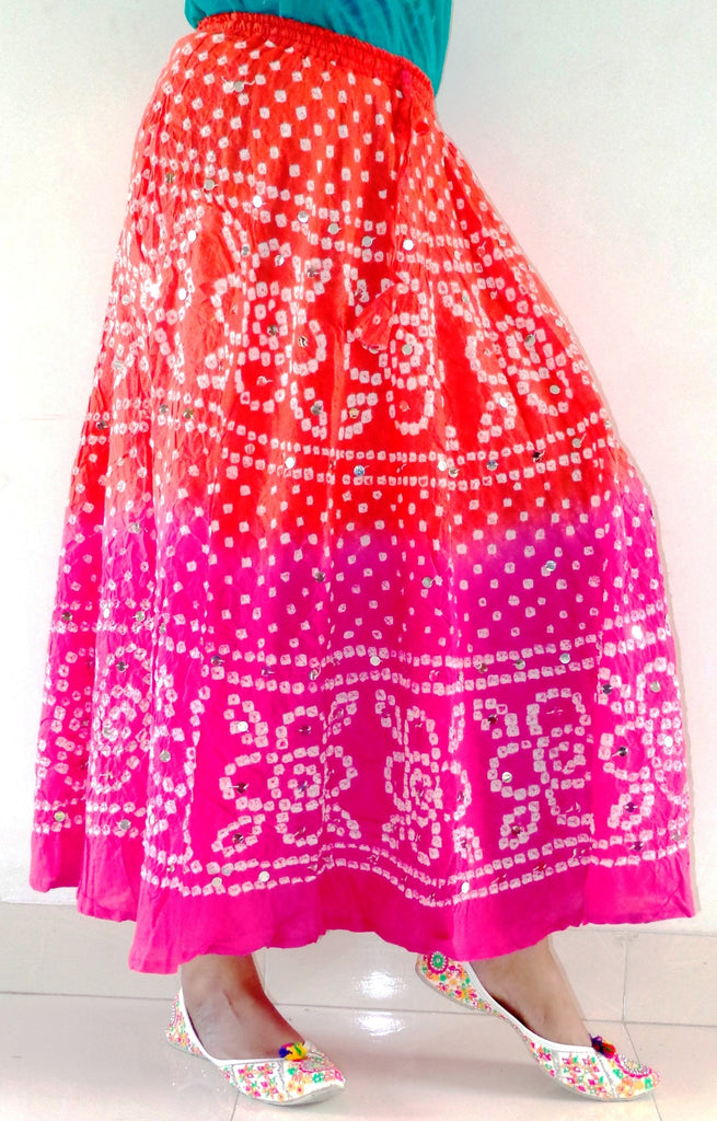 Traditional Bandhani Bandhej Skirt