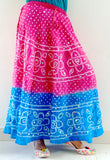 Traditional Bandhej Print Long Skirt