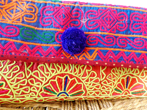Traditional Banjara Mirror Work Clutch Purse
