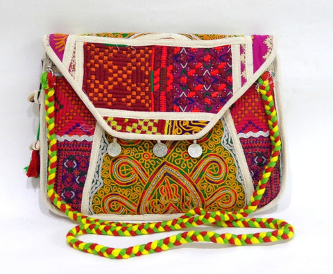 Gujarati Kutch Embroidered Clutch Handbag