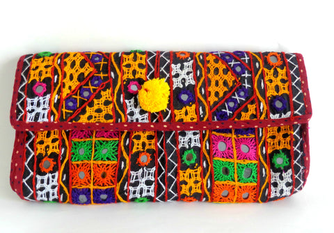 Kutch Rabari Embroidery Clutch Purse