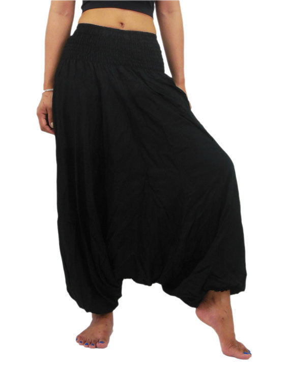 Ladies Cotton Black Yoga Harem Pant
