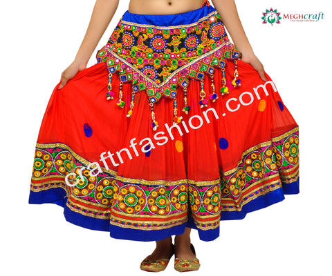 Hippie Bohemian Dandiya Dance Chaniya/Skirt
